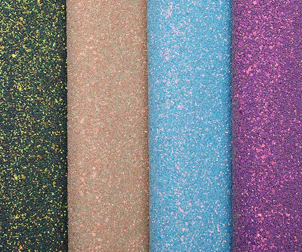 2018 Shiny Glitter Pu Leather For Shoes