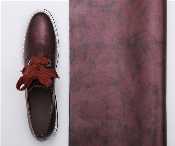 Microfiber Leather for Shoes Surface Upper gents shoes synthetic leather factory