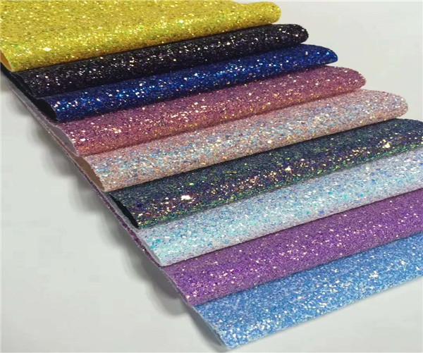 shiny waterproof glitter pvc leather hot seller