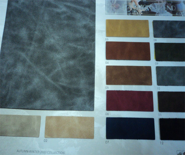 Microfiber leather shoes material catalogue