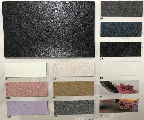 Microfiber leather for handbags ostrich prints saler