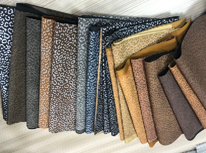 Top quality brand Microfiber Leather glitter colorful