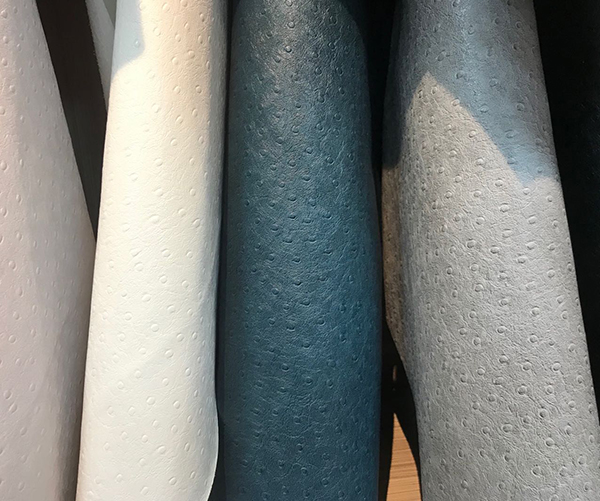 Beautiful  Fake Ostrich microfiber leather for handbags making