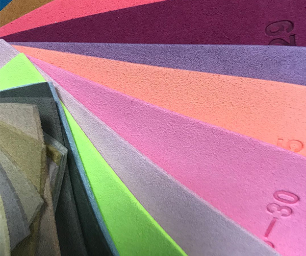 Recycled microfiber suede leather for jewelry packaging/laptop cases