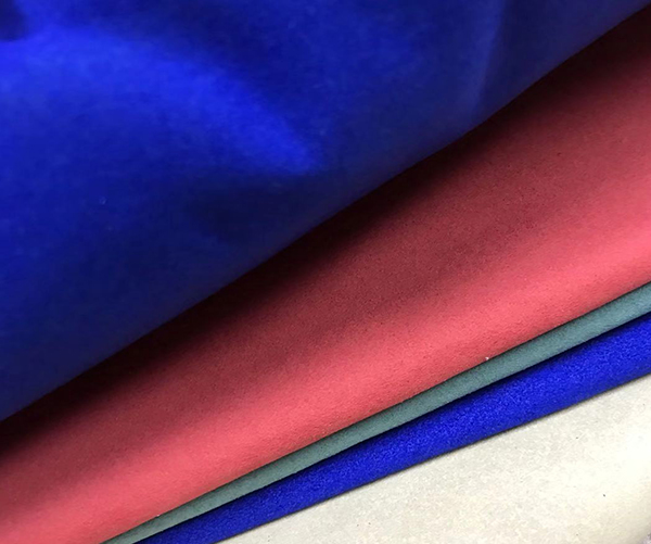 0.6/0.7mm Microfiber Suede Fabric Synthetic Leather High Quality Microfiber Synthetic Suede Leather